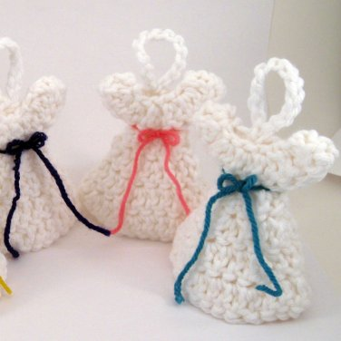Handmade Crocheted First Communion Easter Angel set of 6