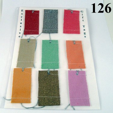 Bling Designer Fabric Gift Tag Set