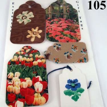 Flowers for Mom Gift Tag Set