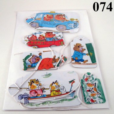 Handmade Gift Tag Set for Young Children