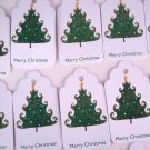 Merry Christmas Gift Tags Tree Design