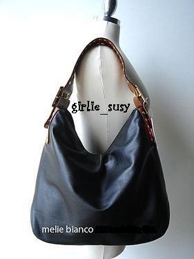 MELIE BIANCO Studded Hobo Faux Leather Handbag Purse Tote *PLUS BONUS CASH BACK!*