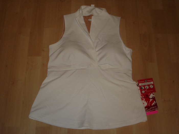 Lululemon W Whisper Tank Sleeveless Top NWT 8/10 White *PLUS BONUS CASH BACK!*