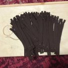 "50 Dark Brown 8"" Nylon Coil Closed End Zippers"
