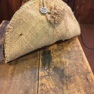 Natural Burlap Placemat Clutch Purse