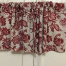 red multi handmade decorative window valance