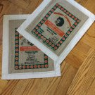 Recycled Burlap Rice Bag And Muslin Placemats Set Of 2