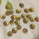 25/2 hole gold buttons with dome center