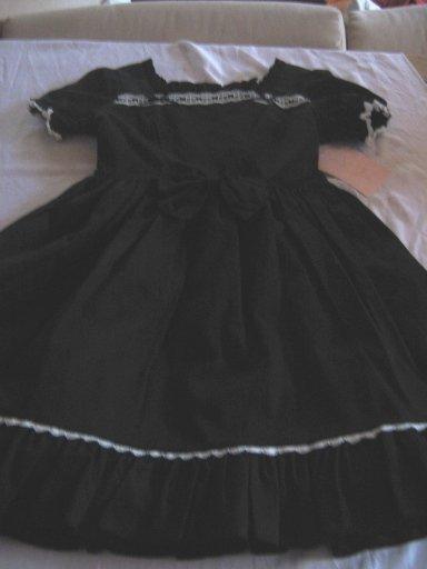 Metamorphose Ladder Lace Dress Black