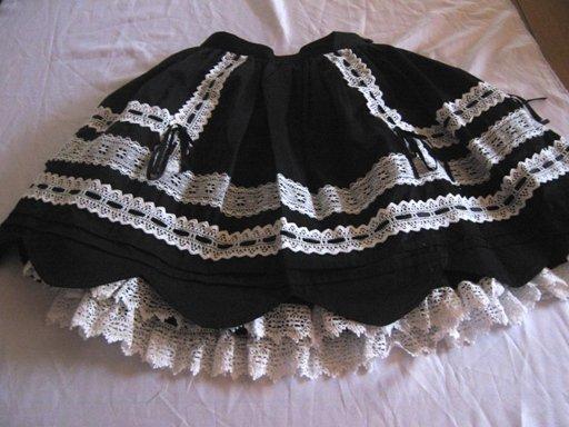 Baby the stars shine bright Scalloped Skirt B/W