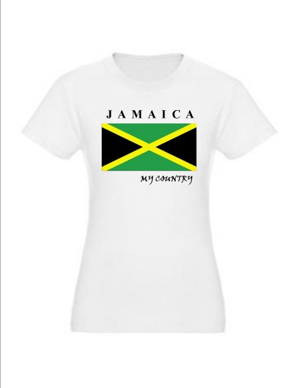 """My Country Patriotic T-Shirts """"Jamaica"""""""