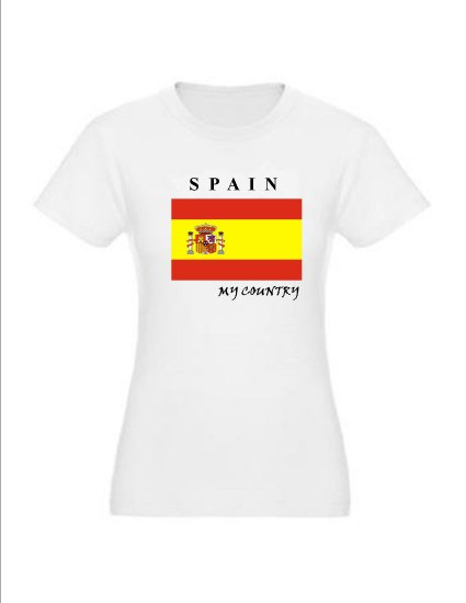 """My Country Patriotic T-shirts """"Spain"""""""