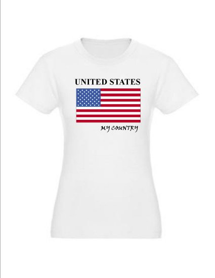 """My Country Patriotic T-shirts """"United States"""""""