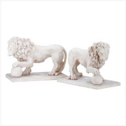 Alabastrite Garden Lion Pair  31640