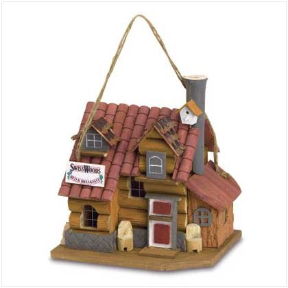 Swiss Wood Bed Birdhouse  37920