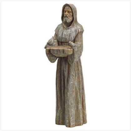 Saint Francis Birdbath with Feeder  37740