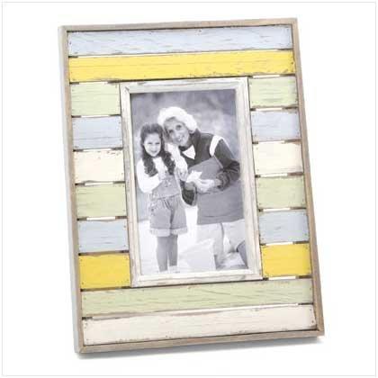Distress Stripes Photo Frame  36665