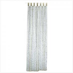 Green Embroidered Curtain  34008