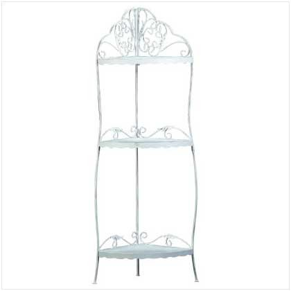 White Scrollwork Corner Shelf  34138