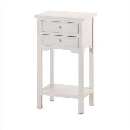 White Table with 2 Drawers  36644