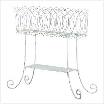 Basket-Style Plant Stand  34263