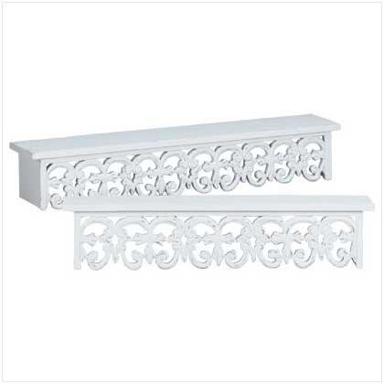Fleur-De-Lis Shelf Set  34351