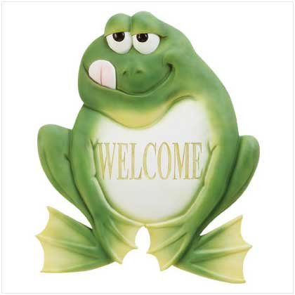 Frog Welcome Plaque   33933