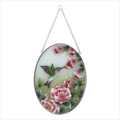 Hand-Painted Hummingbird Suncatcher  33607