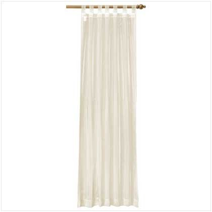 Beige Organza Tab Top Curtain  37061