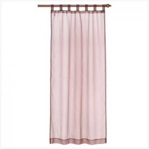 Brown Organza Tab Top Curtain  37062
