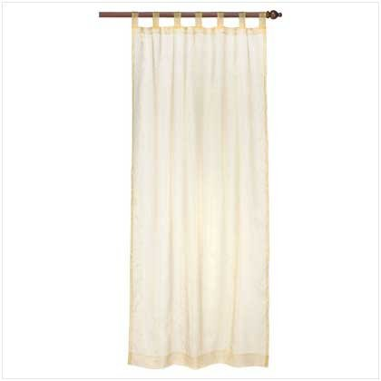 Gold Organza Tab Top Curtain  37063