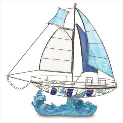 Glass Sailboat  38073