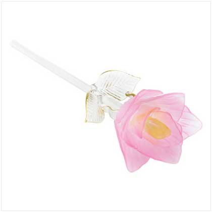 Pink Glass Rose  37929