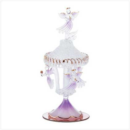 Spun Glass Angel Carousel  31390