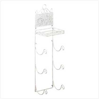 Floral Tiled Towel Rack   35662
