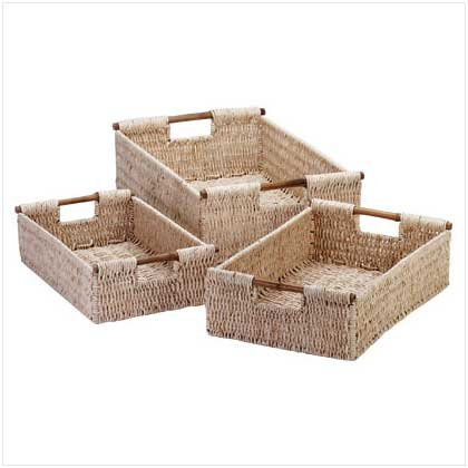 Corn Husk Nesting Baskets  34622