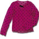 Boutique Dot Mesh Top by Totally Trixie Pink Girls Size 10-12  New from CWD Kids