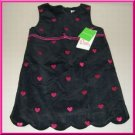 Lilly Pulitzer Robyn Black Braveheart Embroidery Dress Toddler Girls Size 2T Boutique Clothing