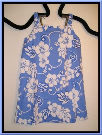 New Boutique CWD Kids Tropical Floral Blue Dress Size 14