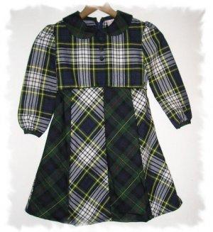 Classic Plaid School Dress Girls Size 6 CWD Boutique