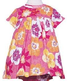 Baby LuLu 100% Cotton Dress Amaryllis Print Size 12M New NWT