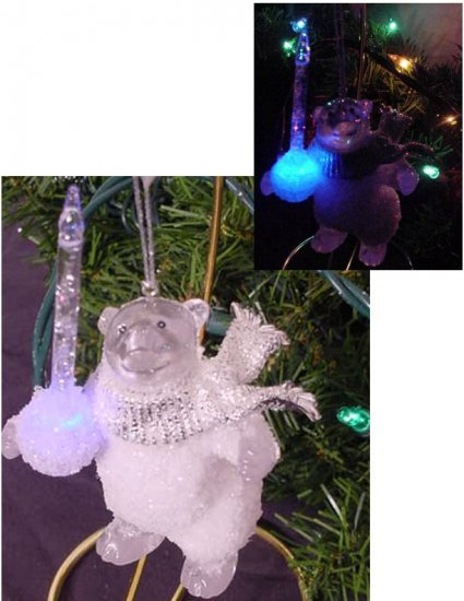 POLAR BEAR BUBBLE LIGHT Ornament ~ Midwest Cannon Falls ~ REALLY CUTE!