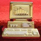 A.J.C Marked 80's Vintage Desk Top Computer Brooch