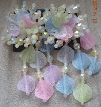 Spring Pastel Big and Bold Beaded 80�s Beaded Earrings