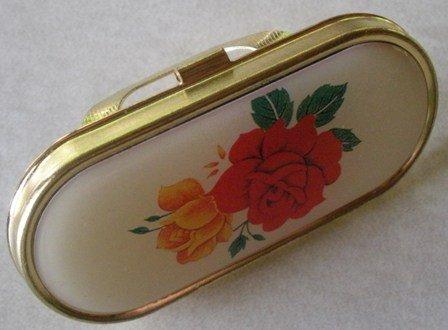 Vintage Lip Stick Mirror with Rose Design