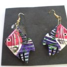 Vintage 80's Angel Fish Hook Earrings
