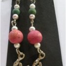 Beaded Sea Lobster Charm Hook Earrings