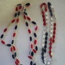 Vintage Metal Link Style Patriotic Necklace