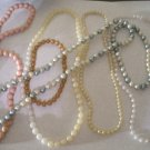 Lot of 7 Vintage Plastic Pearl Necklace