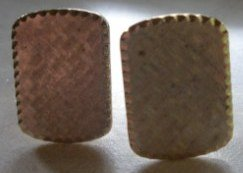 Vintage Swank Textured Rectangle Men�s Cuff Links